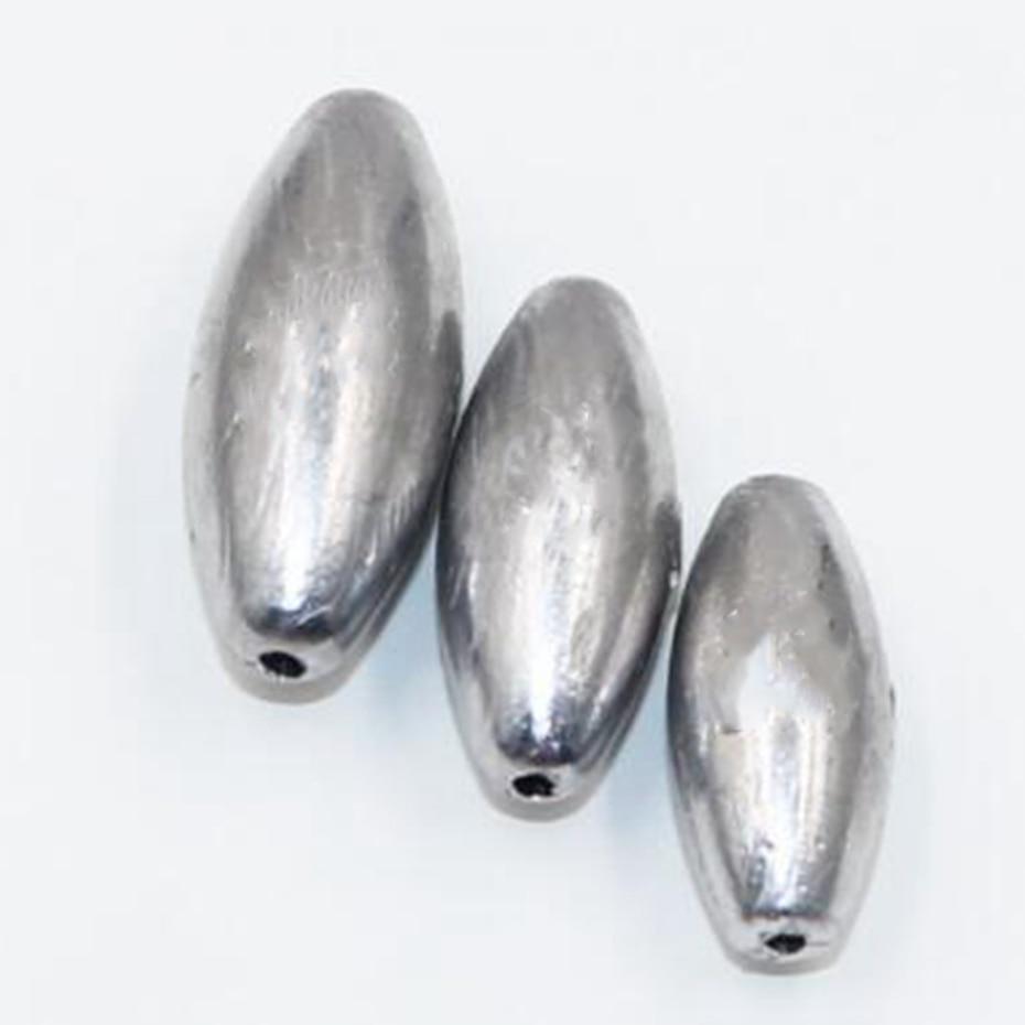 YINGTOUMAN 2pcs/lot  3 G Plomada Hueca  Forma De Oliva Gancho Explosivo Portable  Productos De Aluminio Fishing Tackle