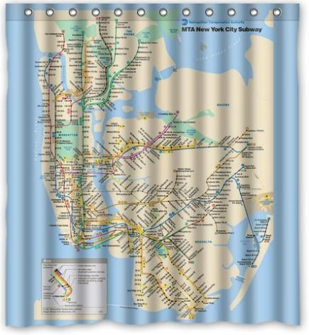 Custom New York Subway Map Classic Home Setting Bathroom ...