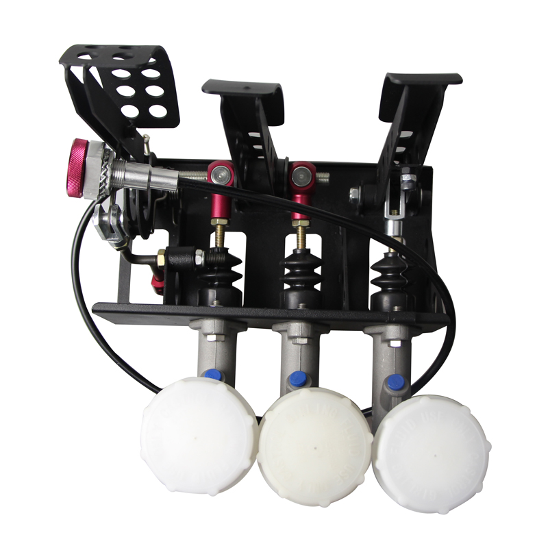 0.75 Maître-Cylindre Hydraulique D'embrayage De Frein Bias Étage Monté Pédale Boîte Avec Solde Dash Ajusteur + 3 d'huile en plastique réservoir