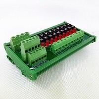Fuse Module,DIN Rail Mount 10 Position Fuse Power Distribution Module.