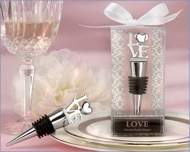 Free Shipping Love Chrome Bottle Stopper Wedding Favors Gifts Wine Stoppers Party Decoration Crafts