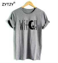 c94d12cc5f Witch Crescent Moon and Star Print Women tshirt Casual Cotton Hipster Funny  t shirt For Girl Top Tee Tumblr Drop Ship BA-127