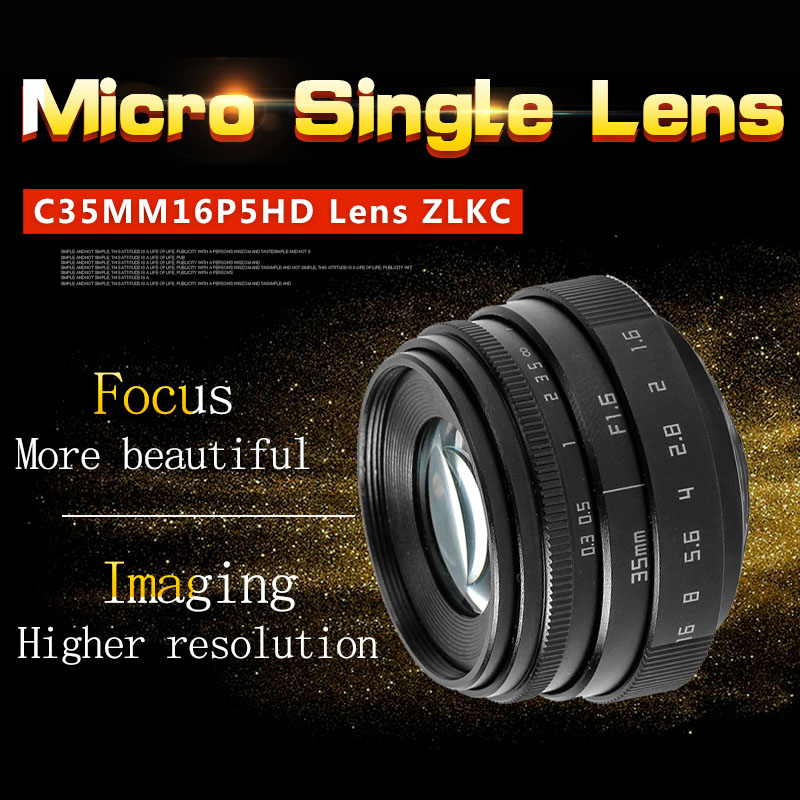 Micro single Camera 35mm HD Lens  C Mount  for wide APS-C sensor camera M4/3 NEX FX EOSM N1 P/Q  Megapixel Manual Iris LensMicro single Camera 35mm HD Lens  C Mount  for wide APS-C sensor camera M4/3 NEX FX EOSM N1 P/Q  Megapixel Manual Iris Lens