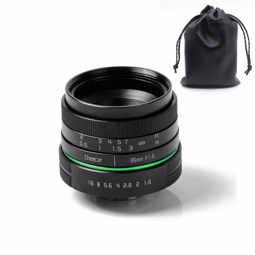 New green circle 35mm APS-C CCTV camera lens for  sony NEX canon E0SM N1 PQ Panasonic Lumix micro camera +gift  free shipping 35mm f 1 6 c mount lens for aps c sensor sony e nex 7 nex6 nex5t 5r 3 a5100 a6000 a5000 a3000 a6300 a6500