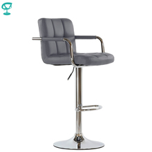 95360 Barneo N-69 Leather Kitchen Breakfast Bar Stool Swivel Bar Chair dark brown color free shipping in Russia