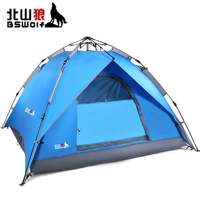 Automatic 2 layer Family tent hydraulic spring
