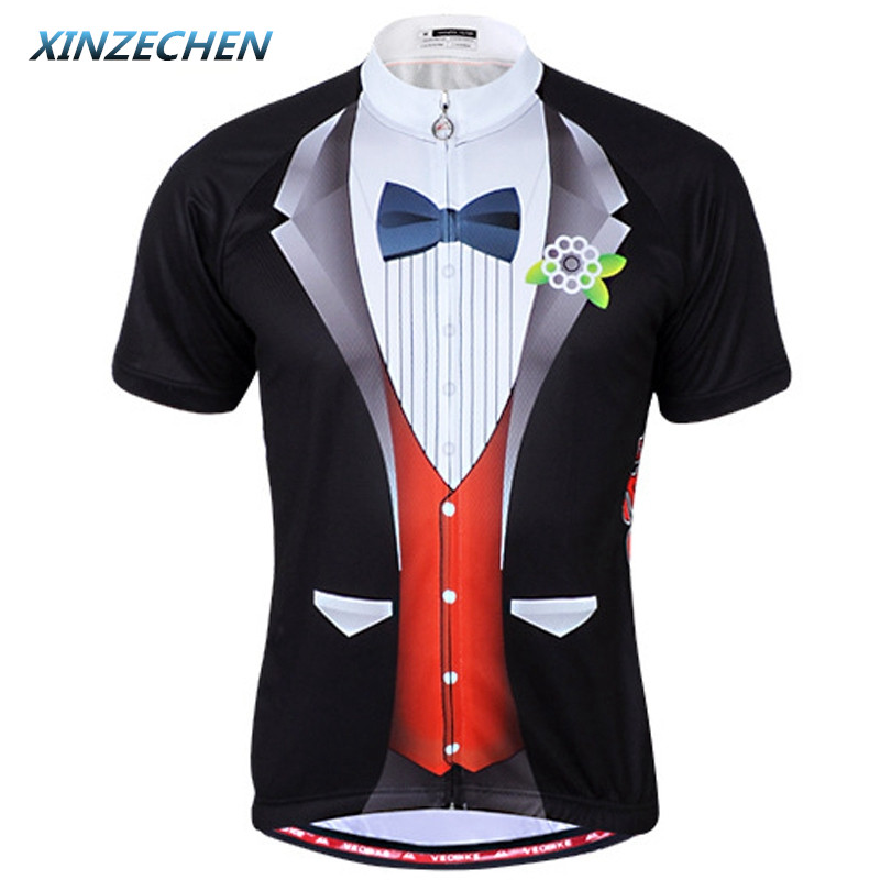 XINZECHEN Summer Men Cycling Jersey Bike Clothing Gentleman Outdoor Quick Dry Bicycle Jersey Clothing MTB Shirts Top Sportswear