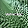 Hight quality Yellow Hybrid Carbon Fabric , Carbon-Aramid Fabric  ,Carbon-Kevlar Fabric, W weave pattern