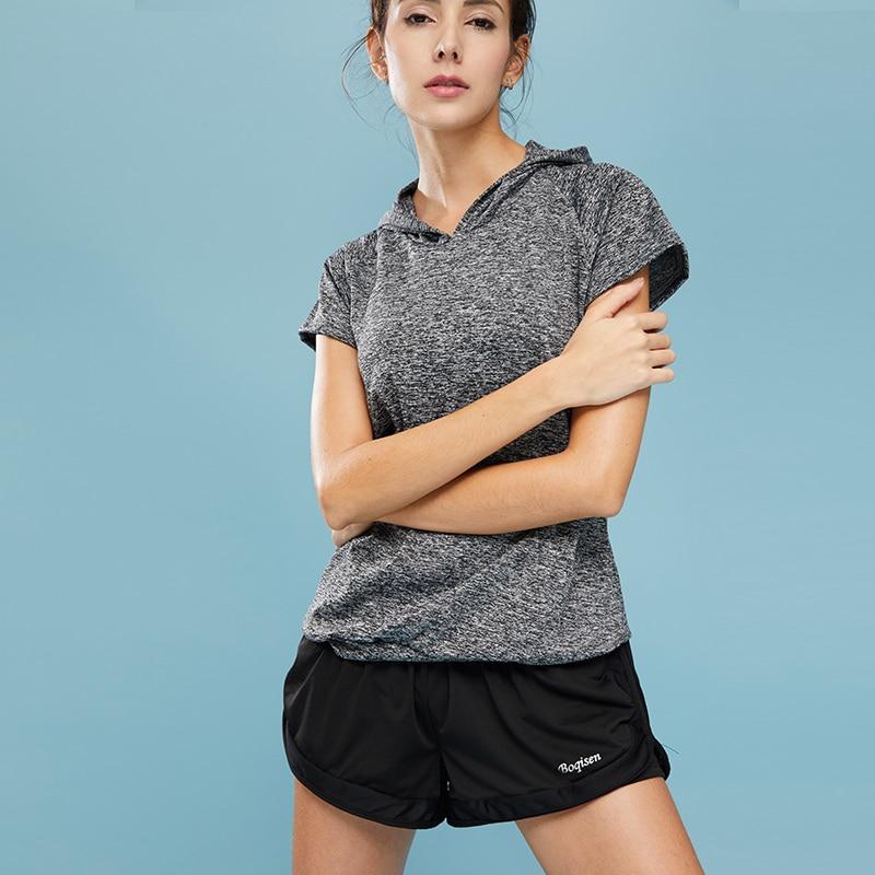 VERZY 2018 nuevo conjunto de Yoga para mujeres, Fitness, gimnasio, correr, medias, traje deportivo, chaqueta deportiva de manga corta + Conjunto de sujetador, entrenamiento profesional - 6