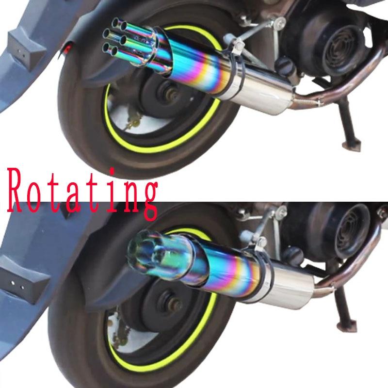 Universal Silencer Motorcycle Exhaust Muffler Rotating Gatling Gun Slip On Moto Escape For Kawasaki ER6N YAMAHA R1 FZ1 AK201|moto escape|motorcycle exhaust muffler|universal silencer - title=