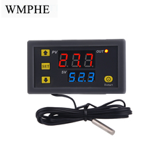 Digital Temperature Controller LED Display Thermostat Thermometer Temperature Control Switch W3230 12V 24V 110-220V стоимость
