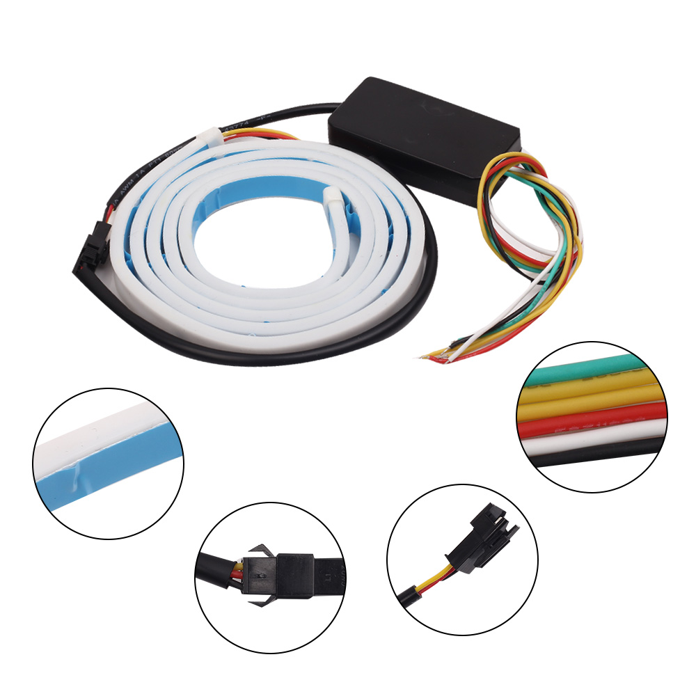 Maluokasa 120cm Tri Color Car Led Strip Light Atmosphere Lamp Auto Wiring Of A Rear Trunk Decorative Styling Turn Signal Indicator In From