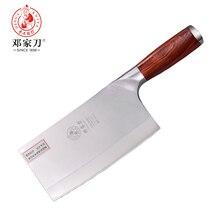 Нож DENG ручной работы 9Cr18Mov стальная ручка из красного дерева китайский высококачественный овощной нож шеф-повара нож Мясо кухонный мясницкий нож ножи