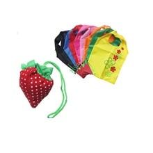 c450dc8f372 Large shopping bag strawberry folding shopping bag eco-friendly bag  Foldable Strawberry Shopping Bag 200pcs