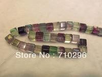 Gemstone Loose Beads Flourite 8 Mm Cube Gesmtone Jewelry Beads Fit DIY Necklace 15 5 Pcs