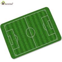 HAKOONA Impresión Digital de Campo De Fútbol de Césped Pie De Goma Antideslizante Absorbente Felpudos Alfombra 40X60 CM