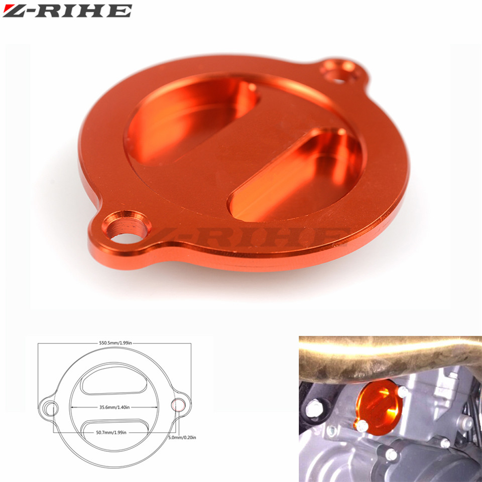 Orange Motorcycle CNC Engine Oil Filter Cover Cap for KTM Duke 125 200 390 With LOGO for ktm Duke 125 Duke 200 390 690 rc200 390 for ktm logo 125 200 390 690 duke rc 200 390 motorcycle accessories cnc engine oil filter cover cap