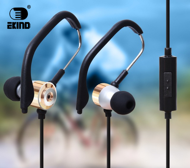 EKIND Wired Earbuds Metal Noise Cancelling Stereo In-Ear Wired Sport Earphone Metal Headset HIFI Headphone with Mic Microphone