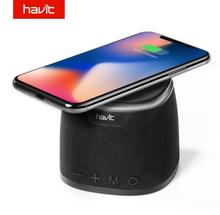 HAVIT-M1 Bluetooth Speaker Wireless Charger Bass Speaker with Qi Charging Pad Function for IPhone X 8/8P Samsung Xiaomi Nokia цена