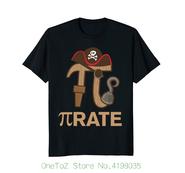 Pirate - Funny Math Geek 3.14 Hat Hook Pi Day Pun T-shirt 100% Cotton Letter Printed T-shirts