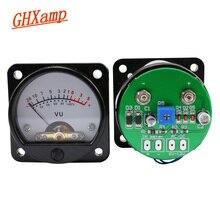 GHXAMP VU متر مع LED الخلفية الجبهة الخلفية سائق مجلس 45 مللي متر مؤشر نوع VU مستوى متر للربط المباشر أمبير الناتج 2 قطعة