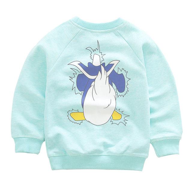 Otoño de Los Niños Suéter de Algodón Bebé Niño Niña de Dibujos Animados T-shirt Chaqueta Tang Laoya Jersey de Manga Larga Camisetas de Los Niños Ropa