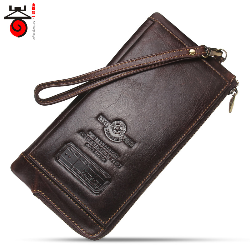 2018 New Luxury Designer Male Genuine Leather Purse Men Wallet Long Clutch Bag Fashion Brand card holder coin Purse p kuone business men purse famous luxury brand coin credit card holder male travel long wallet passport cover leather money bag