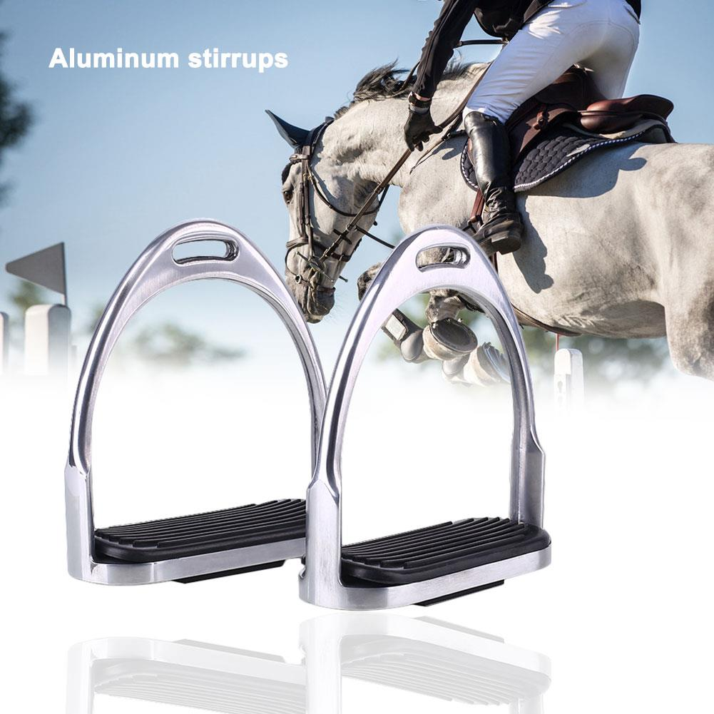 Étriers de cheval équitation marches en caoutchouc étrier de sécurité outil extérieur Durable