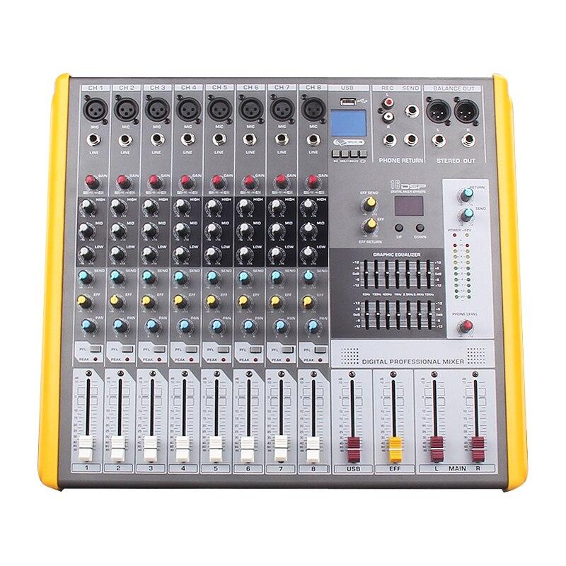 NTBD Bühne Leistung Hip Hop Professional Audio Mixer 6/8/12 Straße mit Wirkung Balance Professionelle Mixer Wireless mikrofon