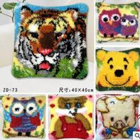 latch hook rug kits Tiger pig owl la casa de papel serie handwerken knooppakket bloem pillowcase cross stitch carpets donka