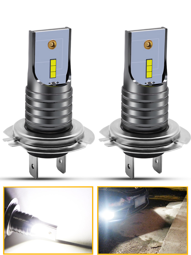 1pair H7 LED Car Fog Light Bulbs 1860 Chips 40W 6000K Pure White Waterproof Fog Lamp Driving Lights Auto Car 12V Front Headlamp in Car Fog Lamp from Automobiles Motorcycles