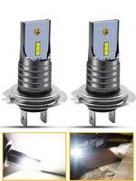 1pair H7 LED Car Fog Light Bulbs 1860 Chips 40W 6000K Pure White Waterproof Fog Lamp Driving Lights Auto Car 12V Front Headlamp