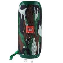 TG117 Waterproof Bluetooth Speaker Wireless Outdoor portable Column Loudspeaker Box Support FM radio U disk TF card Aux Input