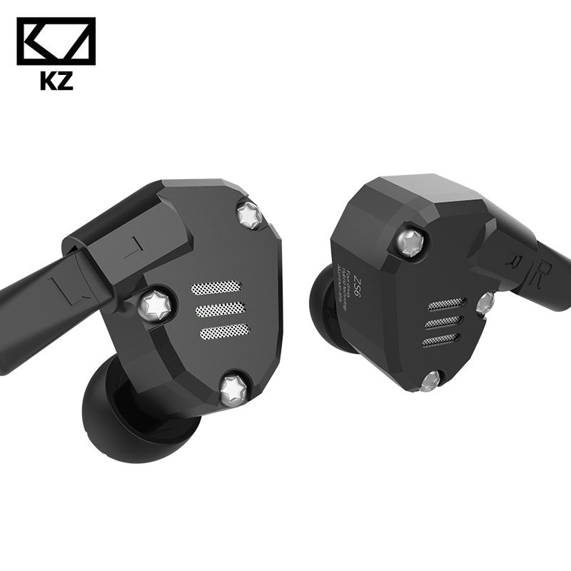 KZ ZS6 2DD 2BA 8 Drivers Hybrid Earphone In Ear HIFI Stereo Sport Headset HIFI DJ Monito Running Sport Earphones Earplug Headset in stock zs5 2dd 2ba hybrid in ear earphone hifi dj monito bass running sport headphone headset earbud fone de ouvid for xiomi
