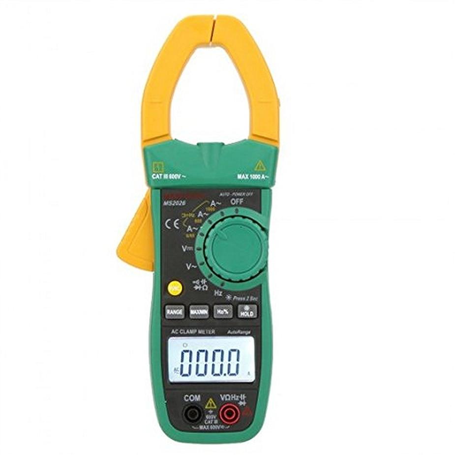 Mastech MS2026R Digital Clamp Meter Tecrep Tester AC Ammeter AC/DC Voltmeter Resistance Frequency Detector Multime cem dt 360 ac clamp meter cem everbest ac ac digital clamp meter 600v ammeter
