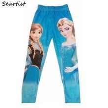 Seartist Baby Girls Frozen Leggings Spring Autumn Long Pants Cartoon Sending Random Color 30