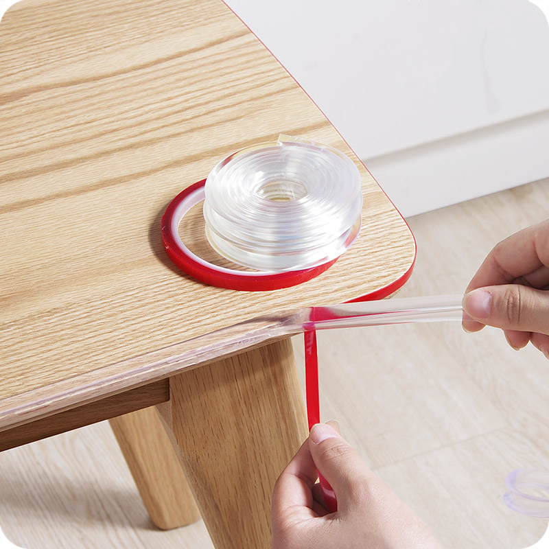 1M! PVC Baby Safety Table Desk Edge Guard plastic corner protector children glass tables Strip With Sticky Tape Furniture Corner