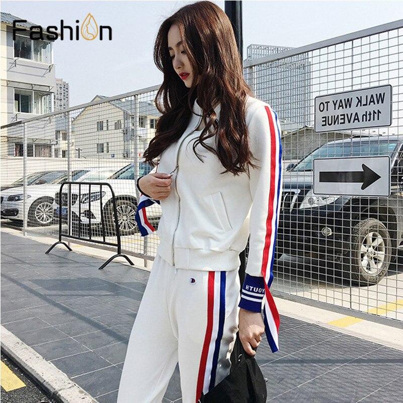 Women's Spring Autumn Tracksuit Women Hoodies 2-Piece Set Jacket+Three Quarter Pants Leisure Suits Clothes Plus Size Streetwear