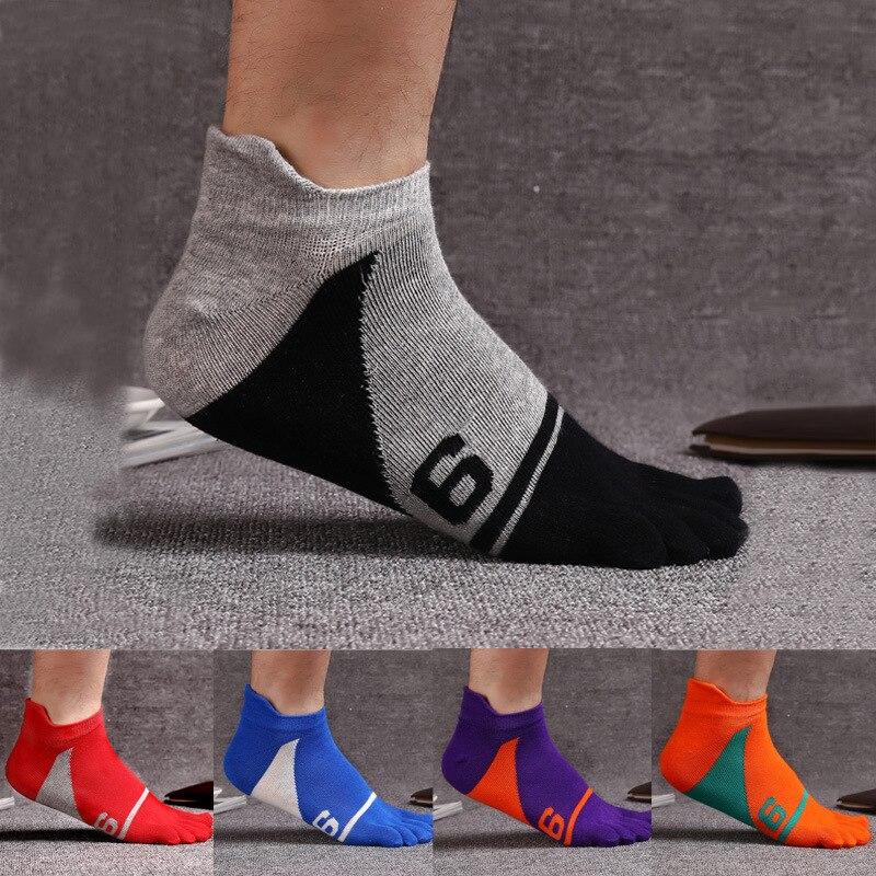 VOHIO 2018 fashion mens pure cotton five finger socks color digital 9 cotton split toe socks comfortable warm men socks