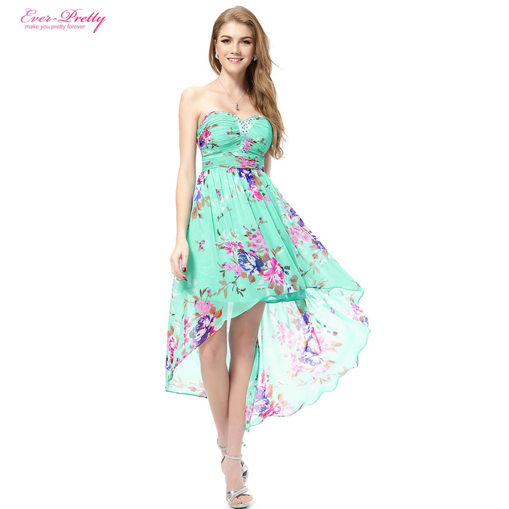 Floral Print Cocktail Dresses Ever Pretty Beach Style Blue ...