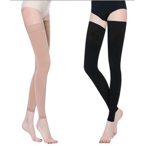 Compression Socks Thigh High Ninth Stocking 23-32mmHg For Edema, Varicose Veins Medical Slimming Socks Medical Socks