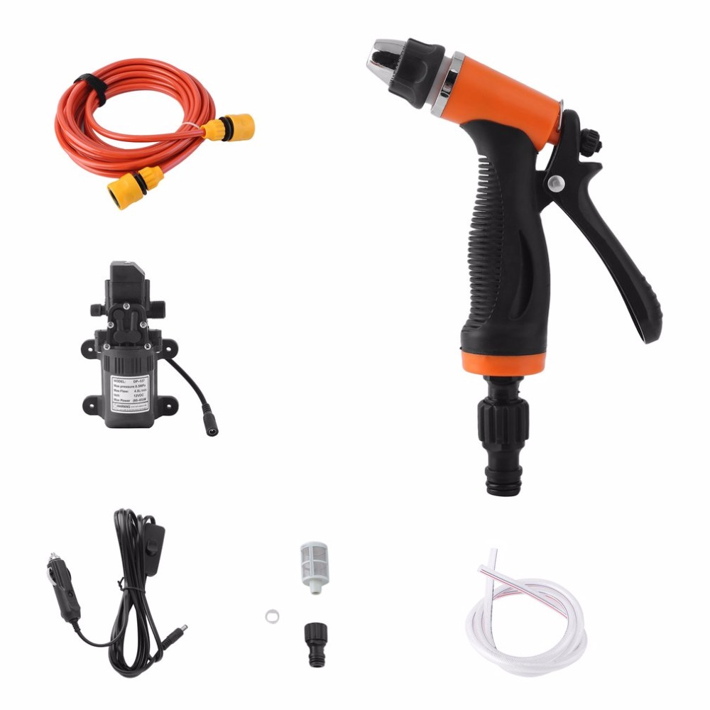 New Car Washer 12V Gun Pump High Pressure Cleaner Care Washing Machine Electric Cleaning Auto Wash maintenance Tool Accessories