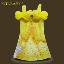 Summer Elegant Girls Clothing Belle Princess Dress Rapunzel