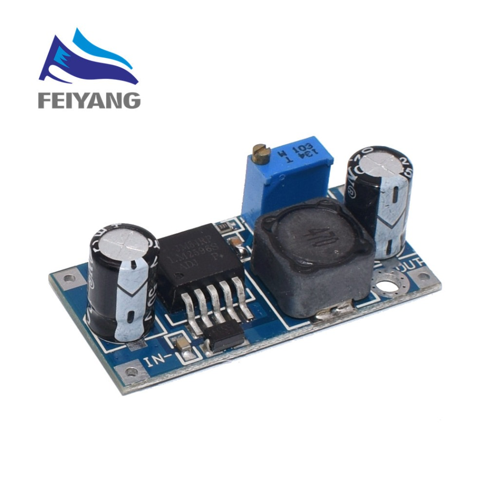 100PCS SAMIORE ROBOT LM2596 LM2596S DC DC adjustable step down power Supply module NEW High Quality