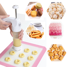 Baking pastry Tools Cookie Mold Press Gun , 12 Flower Mold + 6 Pastry Tips biscuit cookie cutter DIY cake Cookie making machine