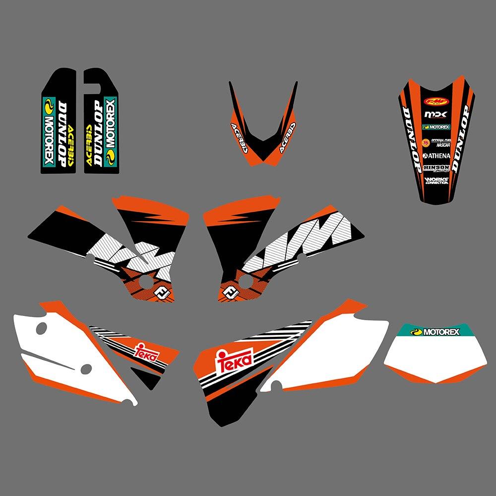 ÉQUIPE GRAPHICS & MILIEUX STICKERS AUTOCOLLANTS POUR KTM EXC 125 200 250 300 400 450 525 2004 Moto Graphique Decal