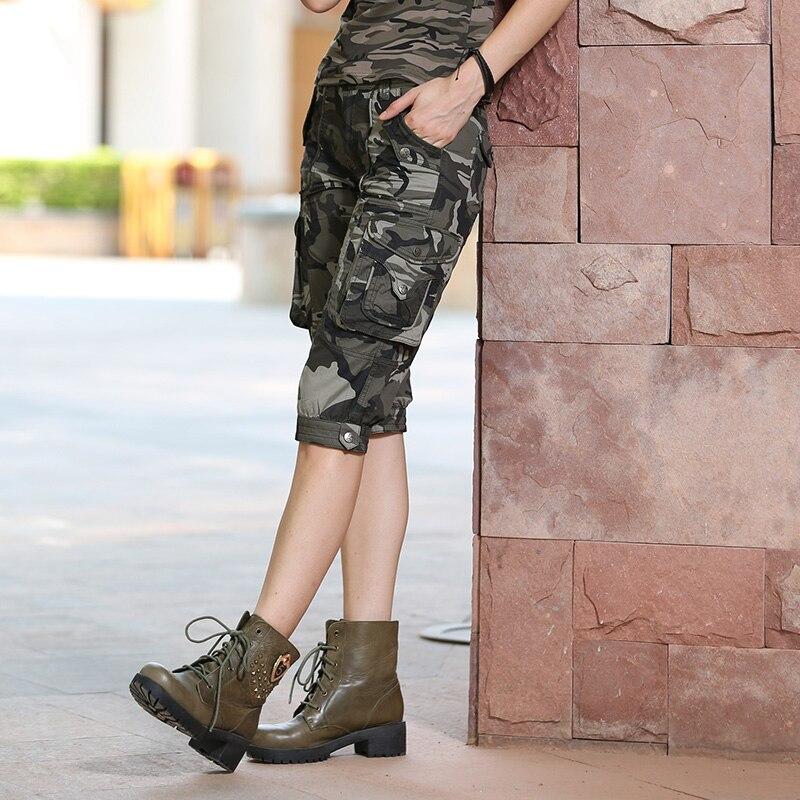 Pantallona të shkurtra Camo të modës me cilësi të lartë Modele - Veshje për femra - Foto 2