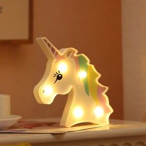 Image 3 - น่ารักAlpaca Flamingo Unicornโคมไฟ 3D Night Lightของขวัญเด็กของเล่นสำหรับทารกเด็กห้องนอนตกแต่งข้างเตียงโคมไฟตั้งโต๊ะตาราง