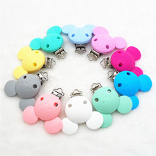 Chenkai 5PCS Silicone Mickey Pacifier Clips DIY Baby Dummy Teether Chain Holder Mouse Animal Nursing Toy Accessories