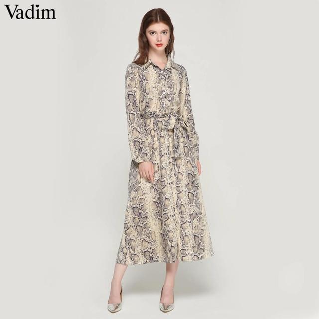 Women snake skin pattern maxi dresses